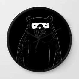 Bear with glasses Wall Clock