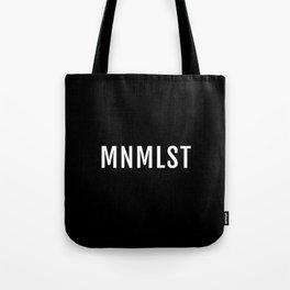 MNMLST, minimalist black Tote Bag