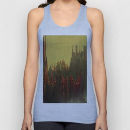 Abstract landscape colorful aerial view illustration Unisex Tank Top
