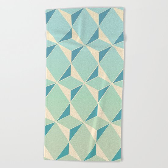 Triangles amd Squares X Beach Towel