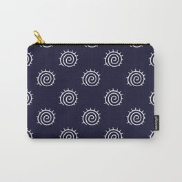 nautical blue and white spiral pattern Carry-All Pouch