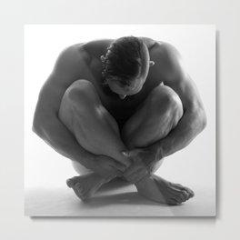 Male Nude Squared Pt.7 Metal Print