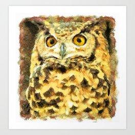 Cute Small Owl Art Print