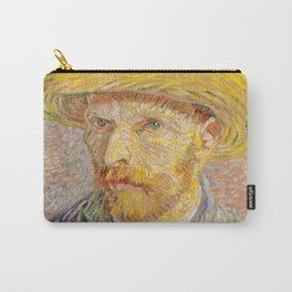 Vincent van Gogh - Self-Portrait with a Straw Hat - The Potato Peeler Carry-All Pouch