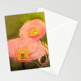 Pale peach poppy Stationery Cards