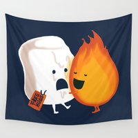 hot Wall Tapestries featuring Friendly Fire by Picomodi