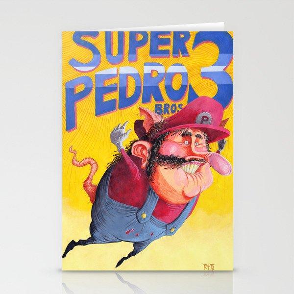 Super Mario Bros 3 Super Pedro Bros 3 Stationery Cards By R4fu