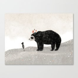 Aia and spectacled bear Canvas Print