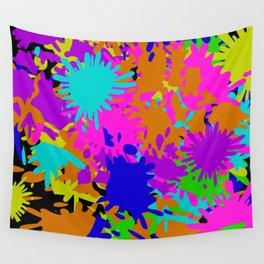 Splatoon Ink Fight Pattern Wall Tapestry