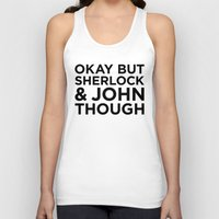 johnlock Tank Tops featuring Sherlock and John Though by HipsterFangirl