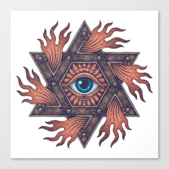 Inner gods Collection/01-rising star Canvas Print