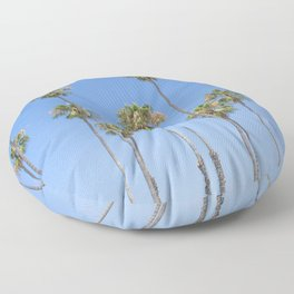 Palm Trees and Blue SKy Floor Pillow