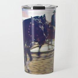 Feira da Golega 2015 3 horses 35 mm Travel Mug