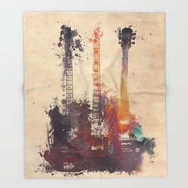 guitars 3 Throw Blanket