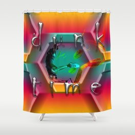 dunk time Shower Curtain