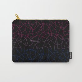 Abstract Threads – Bisexual Pride Flag Carry-All Pouch