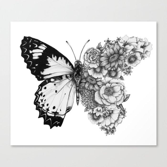 Butterfly in Bloom Leinwanddruck