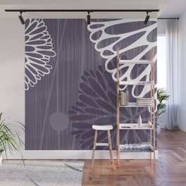 Abstract Floral in Purple by Friztin Wall Mural