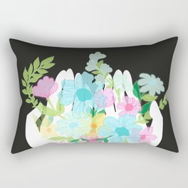 take these flowers Rectangular Pillow