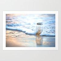 Jar of Dreams - Hawaiian Sunset on the Beach Art Print