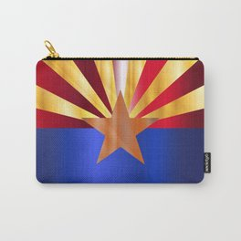 Metal Arizona State Flag Carry-All Pouch