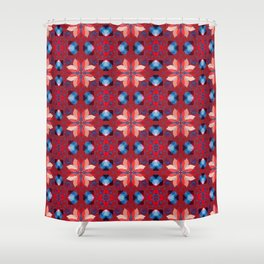Abstract Flower Pattern 5h Shower Curtain