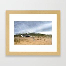 Beached Catamaran Framed Art Print