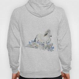 Wild White Horse Hoody