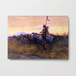 """""""Stolen Horses"""" by Charles M Russell Metal Print"""