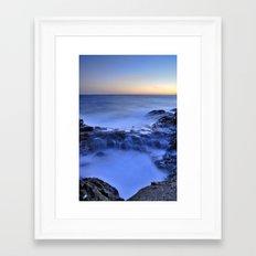 Blue seaside Framed Art Print