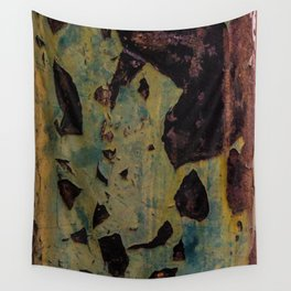 abstract metal pattern Wall Tapestry