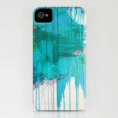 BLUE MONSOON - Stunning Rain Storm Dark Teal Clouds Navy Royal Blue Kelly Green Crimson Red Purple Slim Case iPhone (4, 4s)