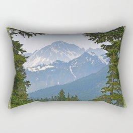 MOUNT LARRABEE FROM HEATHER MEADOWS Rectangular Pillow