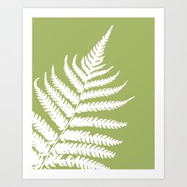 Fern in Woodland Green - Original Floral Botanical Papercut Design Art Print