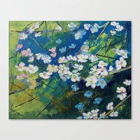 cherry blossoms Canvas Prints featuring Cherry Blossoms by Michael Creese