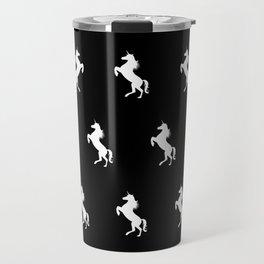 Black And White Unicorns Travel Mug