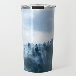 Blue Foggy Rocky Mountains Colorado USA Adventure Travel Mug