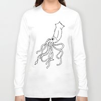 squid Long Sleeve T-shirts featuring Squid by Travelers Checks