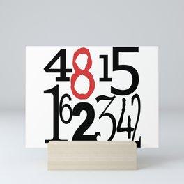 The Numbers in White Mini Art Print