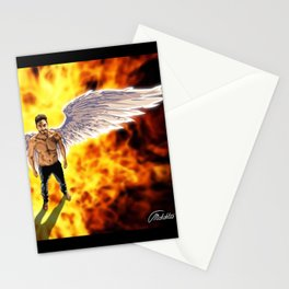 Lucifer Morningstar fire Stationery Cards
