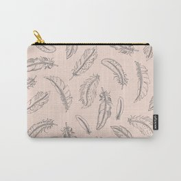 Pastel Feather Outlines Carry-All Pouch