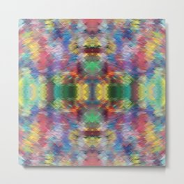 Acid Rain Detail Pixel Metal Print