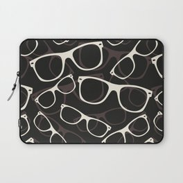 60s 70s 80s  Retro Glasses Seamless Pattern Retro Sunglasses Laptop Sleeve