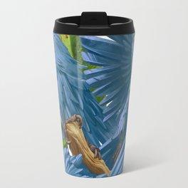 Hyacinth macaws and bananas Stravaganza. Travel Mug