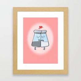 VALENTINE - salt n pepper Framed Art Print