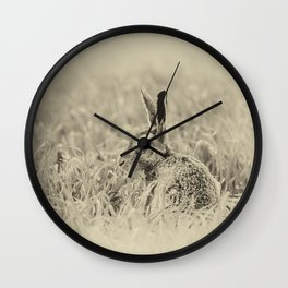 Brown Hare Wall Clock