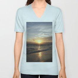 Bonita Beach Sunset Unisex V-Neck