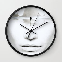 in thoughts Wall Clock