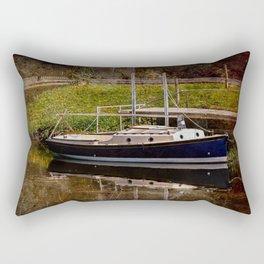 Little River Boat. Rectangular Pillow