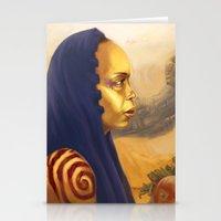 erykah badu Stationery Cards featuring Erykah Badu  by Odera Igbokwe